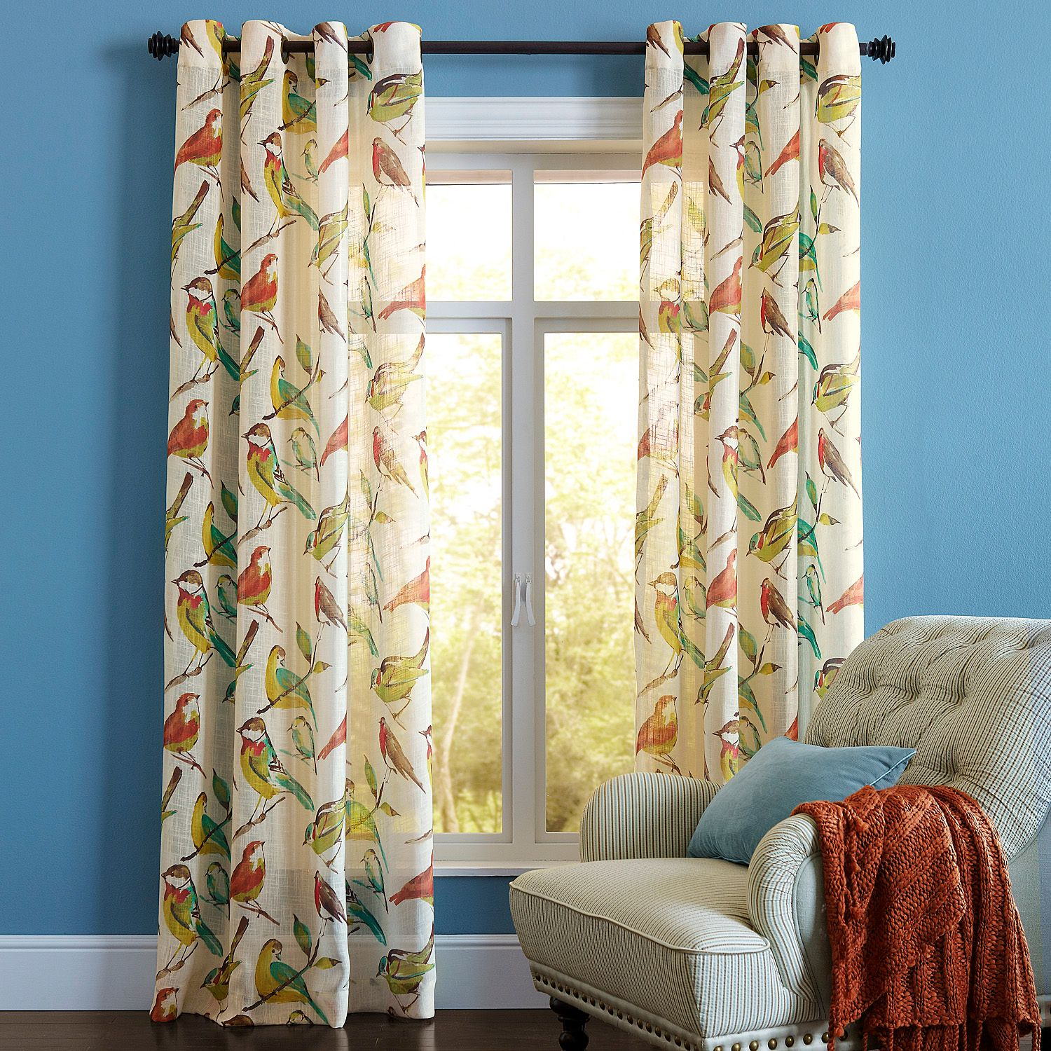 Birdwatcher Sheer Grommet Curtain