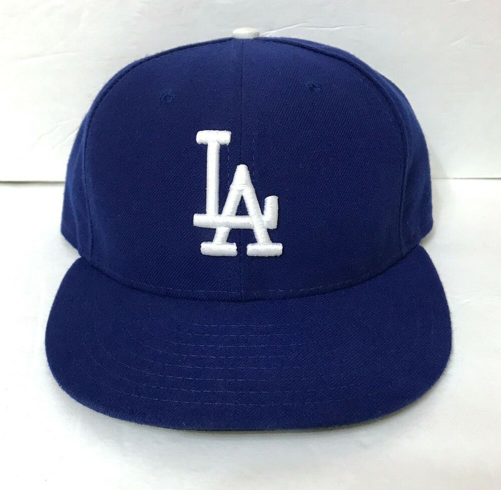 Details about fitted size 7 los angeles la dodgers hat new