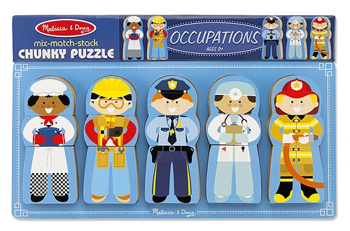 Mix Match Stack Chunky Puzzle Occupations Chunky Puzzles
