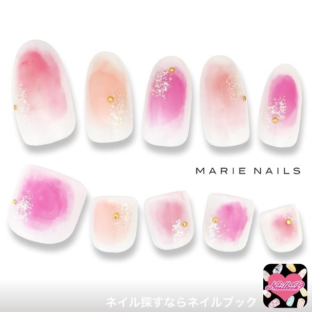 """Blurred transience attractive * topic of """"Tarashikomi nail"""" Featured Design 15 election 