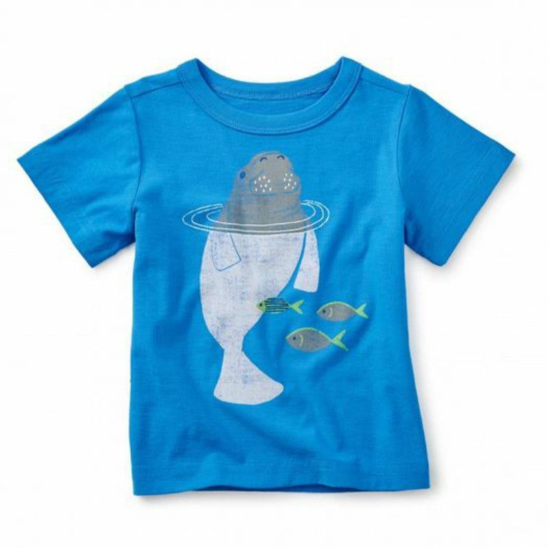 Tea Collection Dugong Graphic Baby Tee