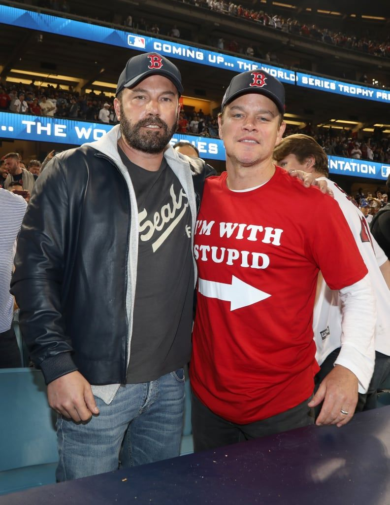 Ben Affleck Gets Caught In The Middle Of Matt Damon And Jimmy Kimmel S Feud At The World Series Matt Damon Ben Affleck Ben Affleck Oscar
