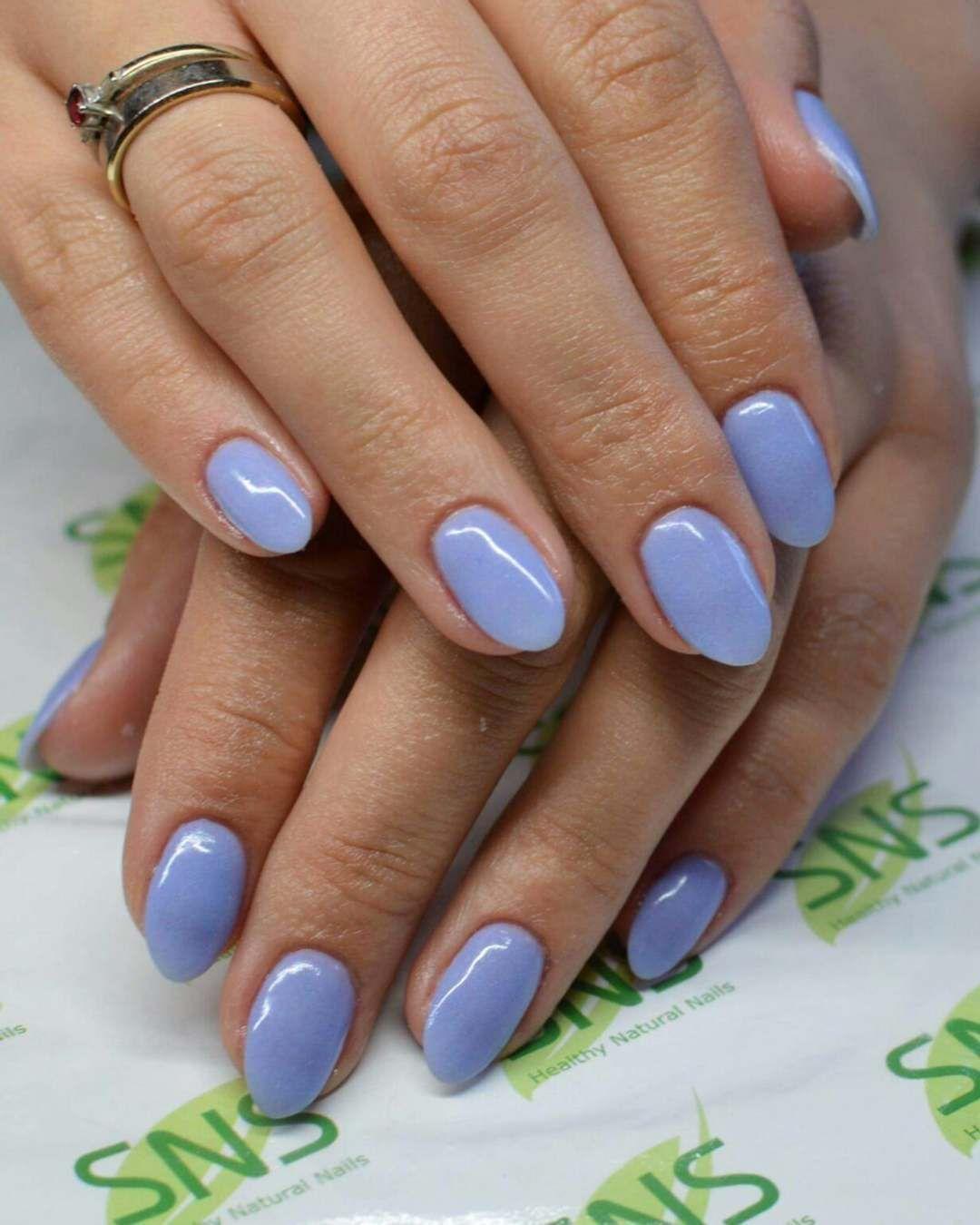 SNS nails with bling | Sns nails, Sns nails colors, Powder