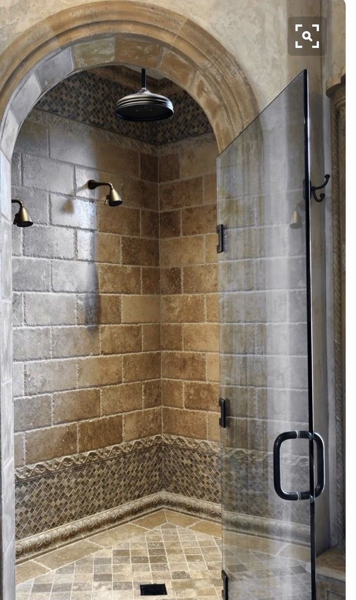 Walk in shower   Cabins   Pinterest   House, Bath and Showers