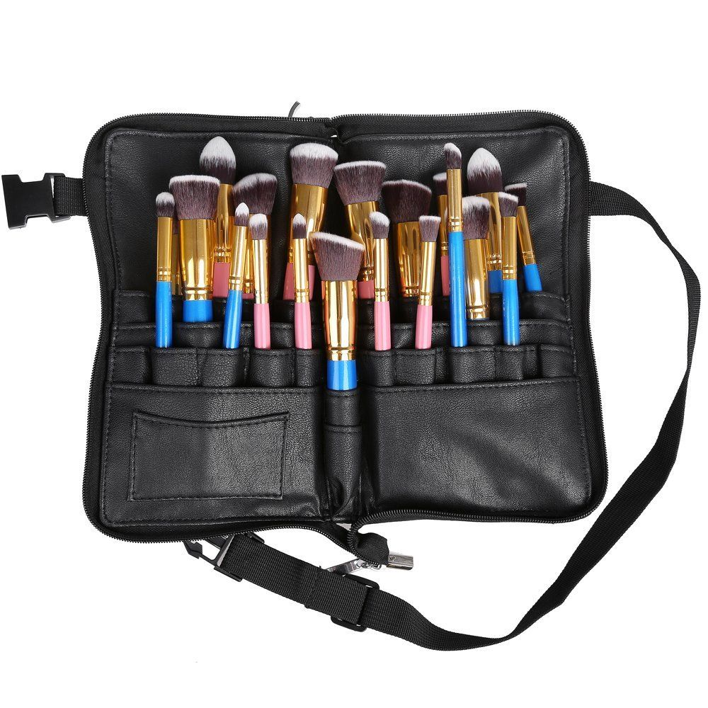 Hotrose Professional 28 Pockets Cosmetic Makeup Brush Bag