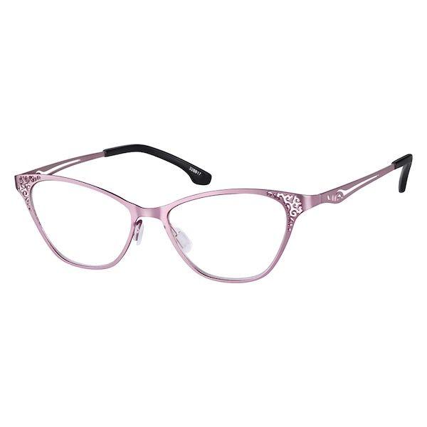 8df050ce4a1 Zenni Womens Cat-Eye Prescription Eyeglasses Pink Stainless Steel 328817