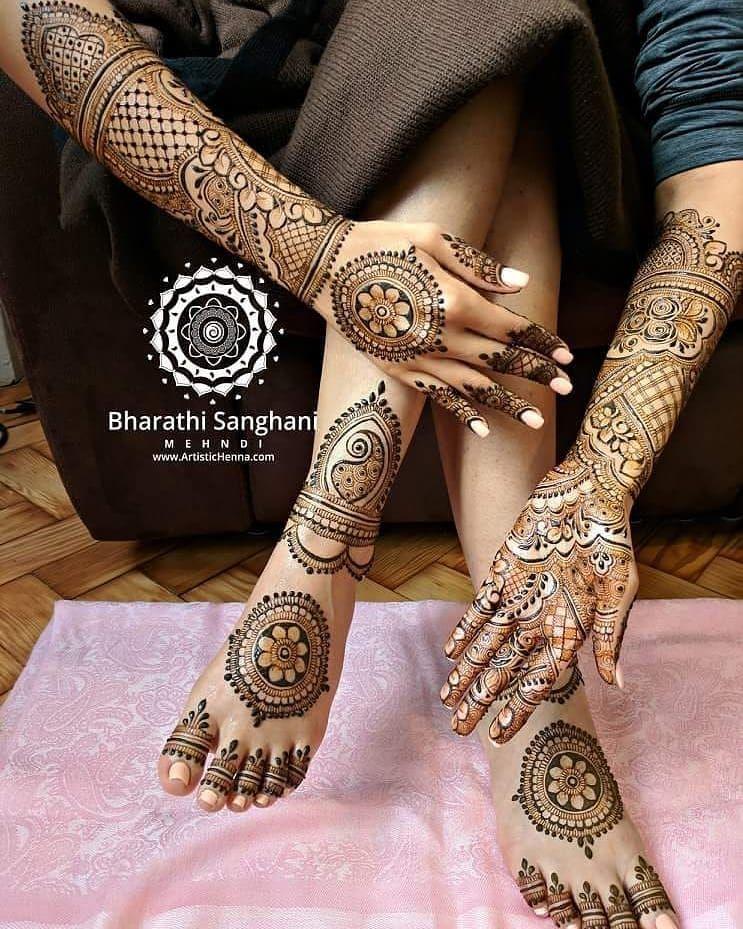 full bridal henna design by bharathi_sanghani