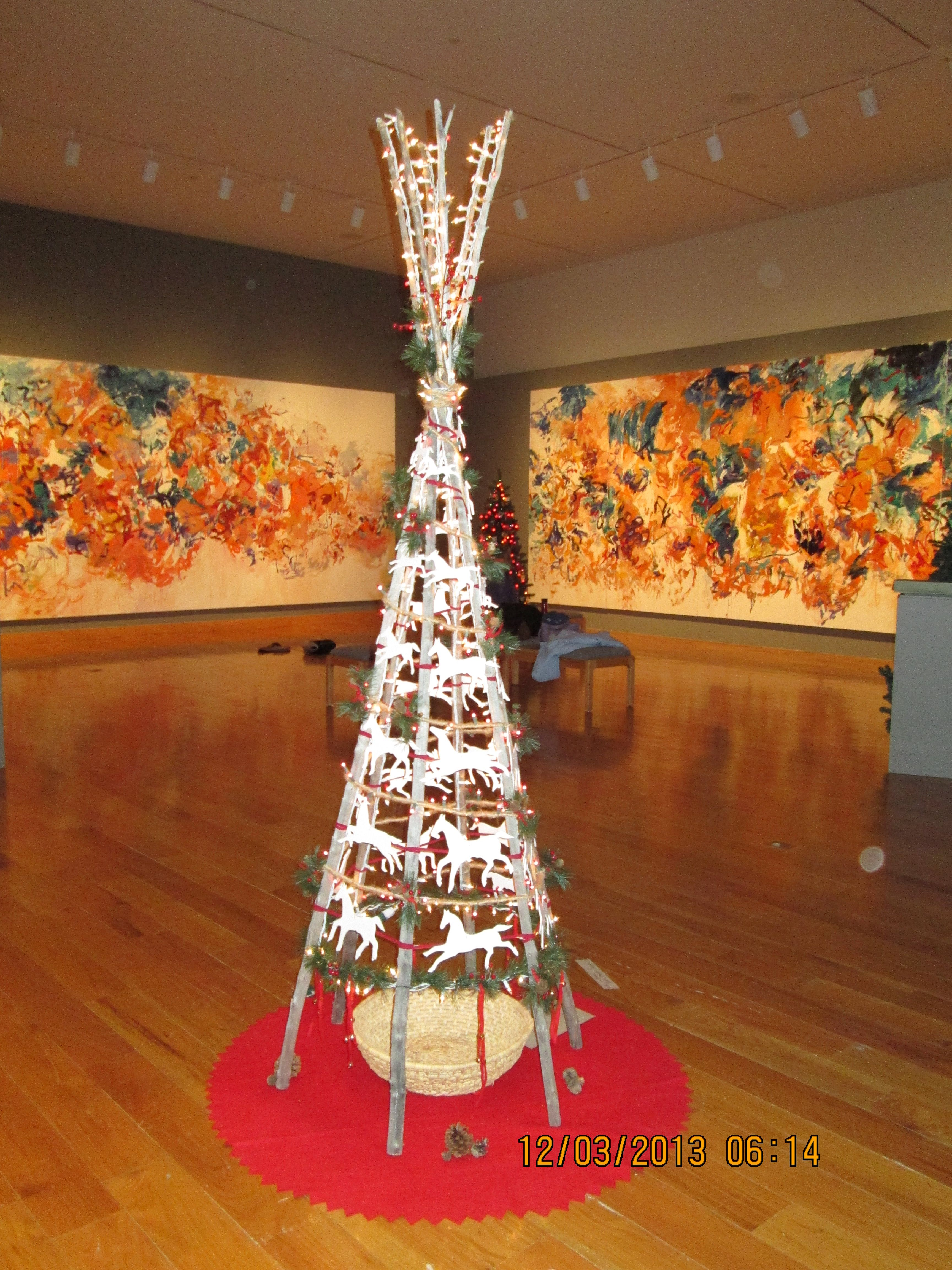 We Built Decorated And Donated This Tree To The U W Art Museum 2013 Christmas Tree Tree Seasonal Decor