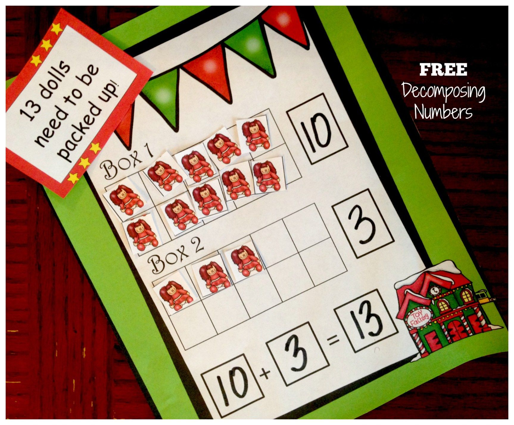 Ready to be Santa\'s Helper? (Free Decomposing Numbers Activity ...