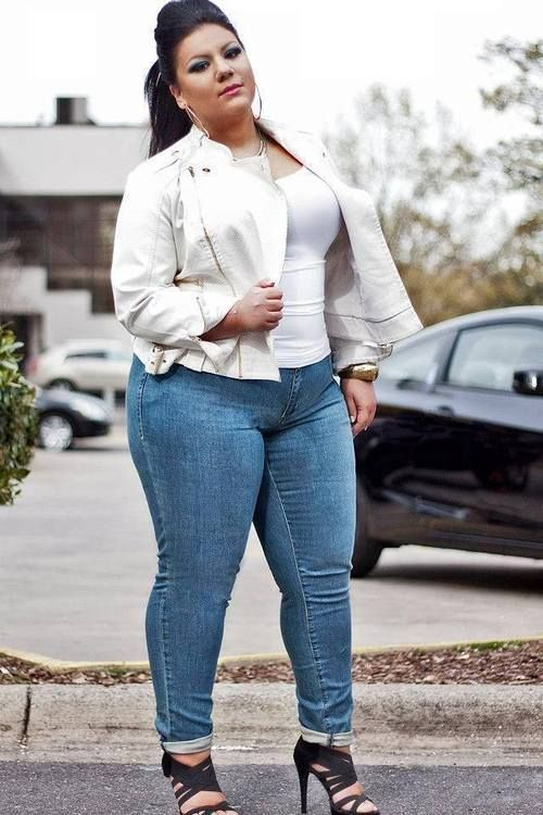 Cute Jeans Plus Size Outfits LadiesCurvy With Skinny 15 For NXn0O8PkZw