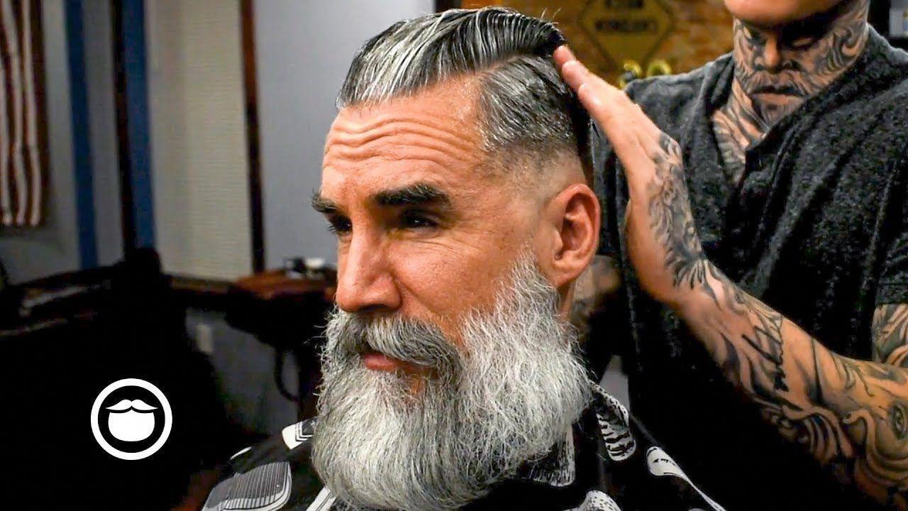 old school side part skin fade   beard care in 2019   hair