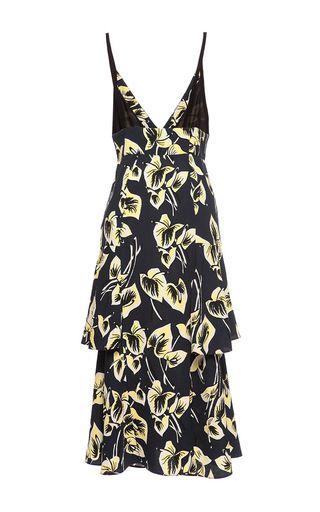 Amlapura Print V Neck Dress by MARNI for Preorder on Moda Operandi