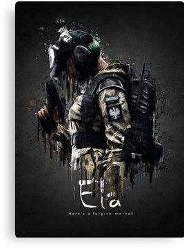 Operator Ela From Rainbow Six Siege Canvas Print With Images