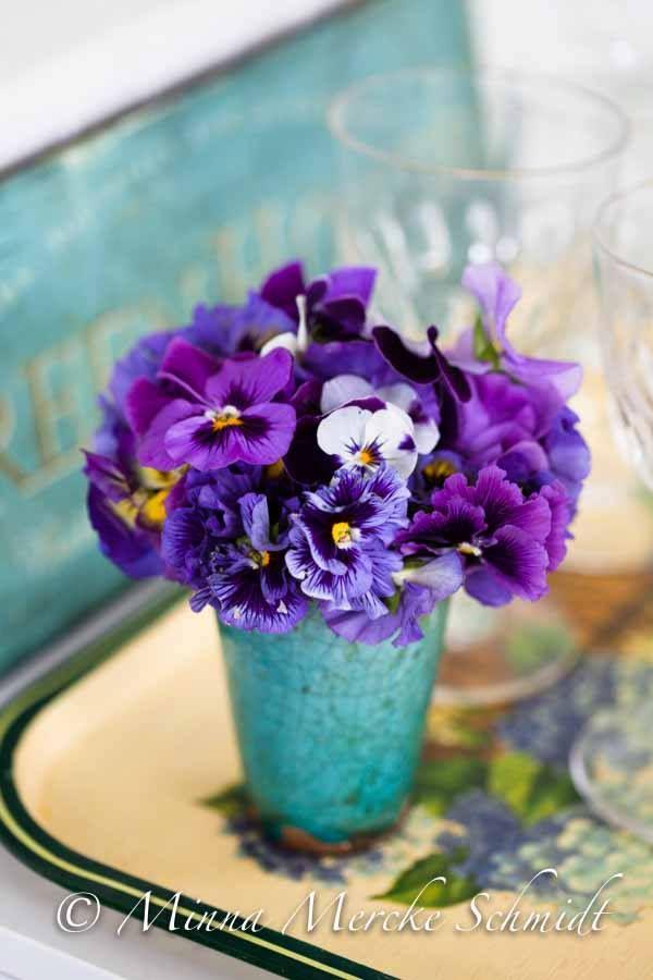 Pansies In Vase Pansies Beautiful Flower Arrangements Pansy Garden