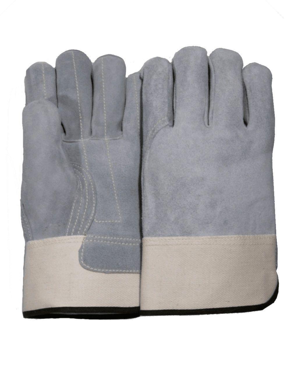 3pk wolverine leather work gloves extra large - Majestic 1831 Split Cowhide Leather Work Gloves Double Palm Kevlar Sewn Dozen
