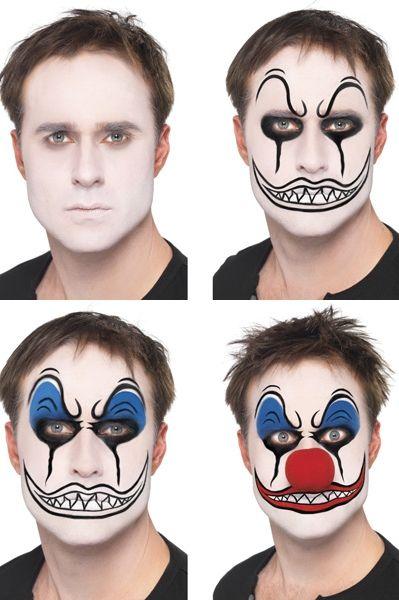 Potterville Tuto Maquillage Halloween Homme, Maquillage Enfant, Maquillage  Halloween Squelette, Maquillage Clown Horreur