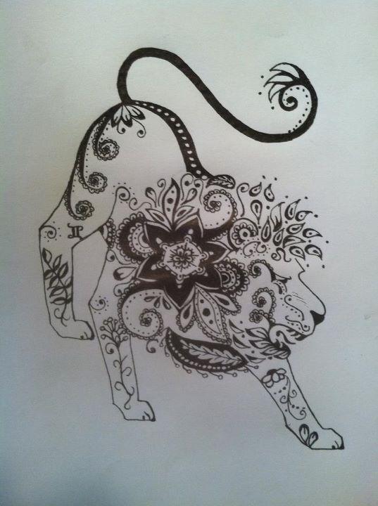 Henna lion