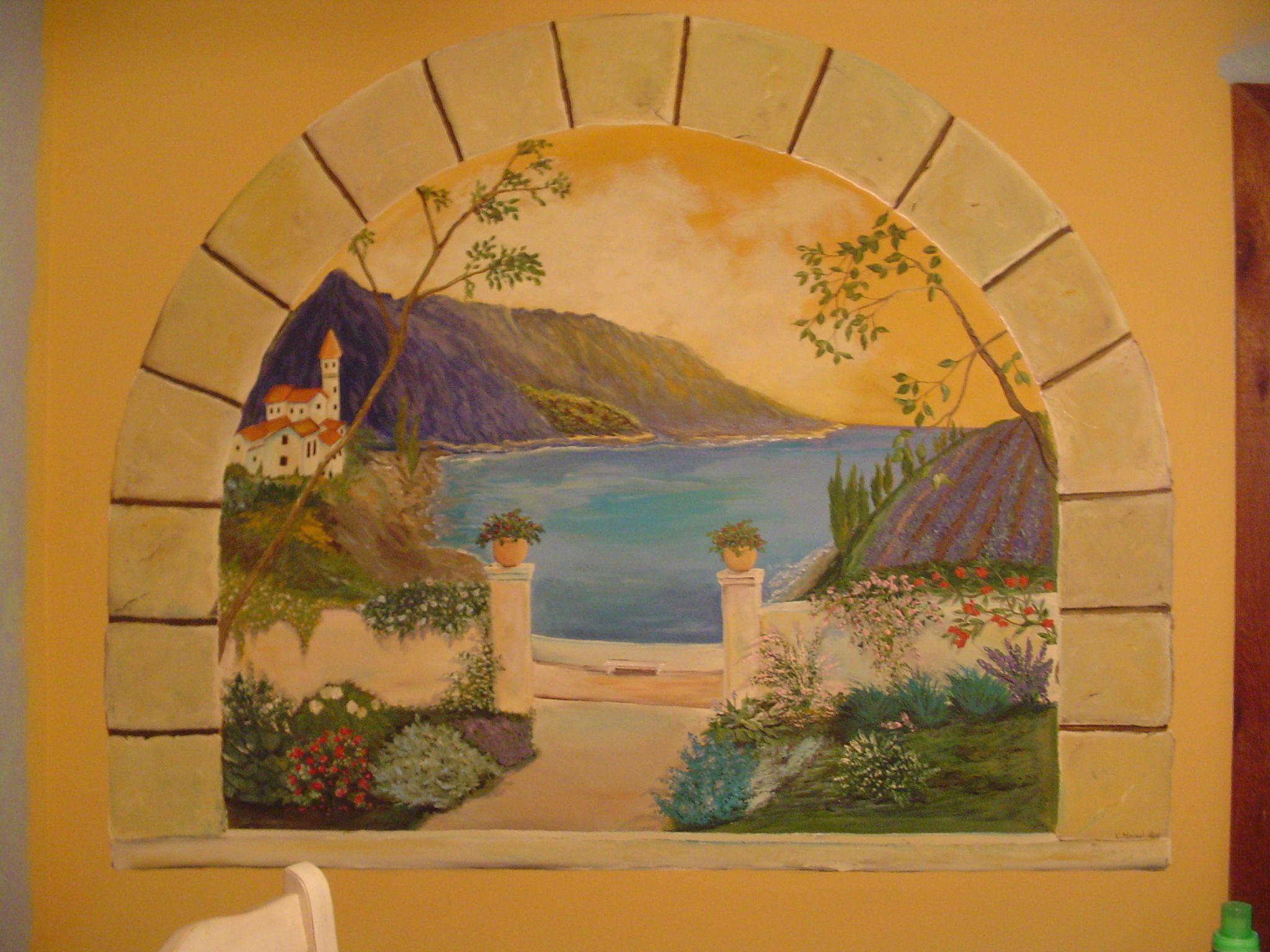 italian wall mural home decor that i love pinterest mediterranean arch mural