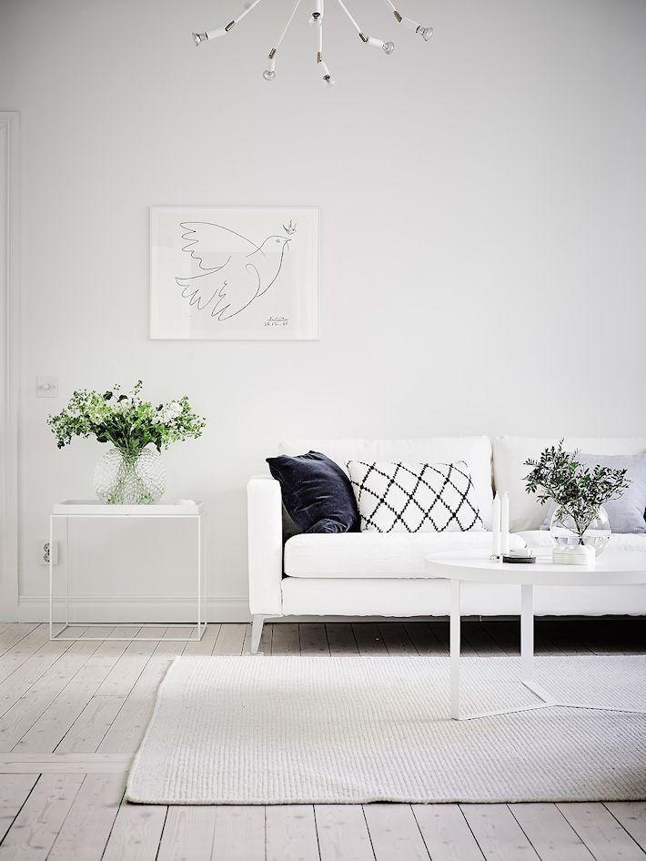 Sala nórdica minimalista todo en blanco | Salas | Pinterest ...