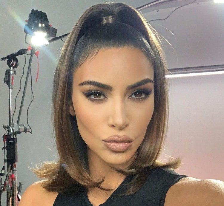 Pin On Beauty In 2020 Kim Kardashian Hair Kardashian Hair Kim Kardashian Makeup