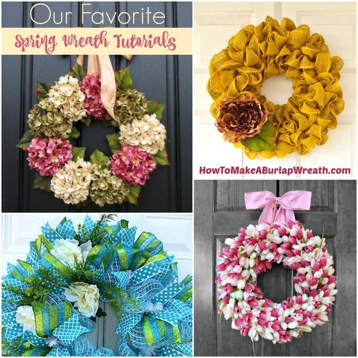 diy tutorials our favorite spring wreath ideas - Spring Wreath Ideas