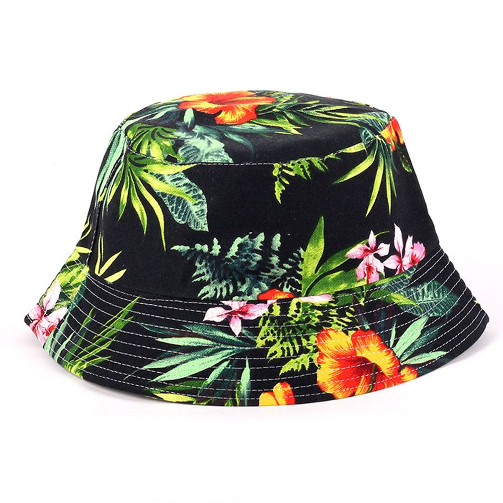 89bb6f309cb Summer UV Women Floral Sun Hat hot outdoor fishing sun hat Bob letter  fisherman panama cap chapeau cotton bucket hat boonie hat-in Bucket Hats  from Women s ...