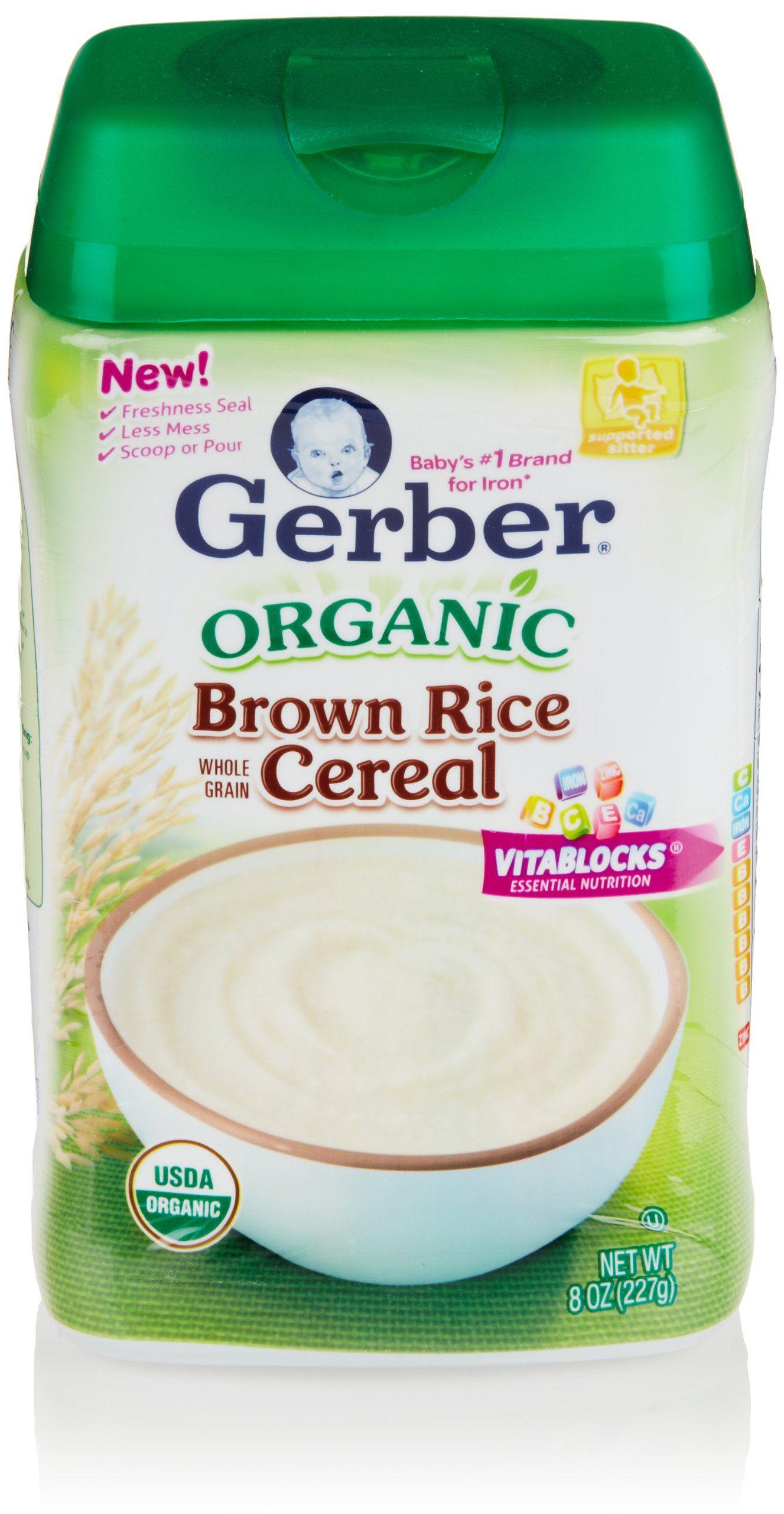 Gerber baby cereal organic brown rice 8 oz