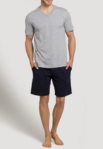Schiesser maglia del pigiama graumeliert Grigio sfumato  ad Euro 23.00 in #Schiesser #Uomo abbigliamento intimo