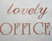 Cross-Stitch Picture Lovely Office Sign Home Office Decor Gift ideas