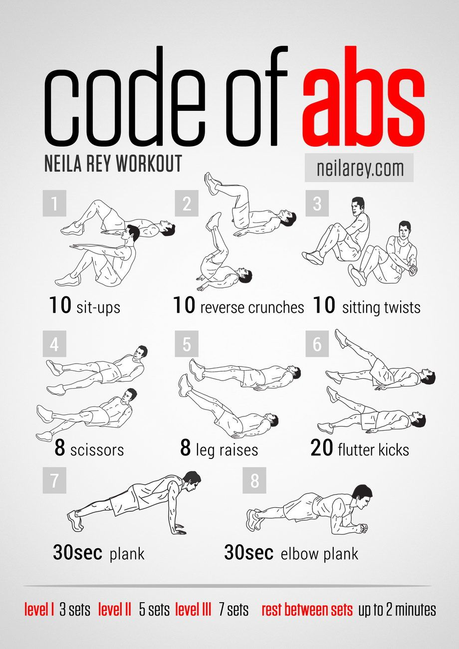 Code Of Abs Workout Great With A Timer To Map Your Progress Remember That Technique Is More Important Than Time When Doing Any Ab