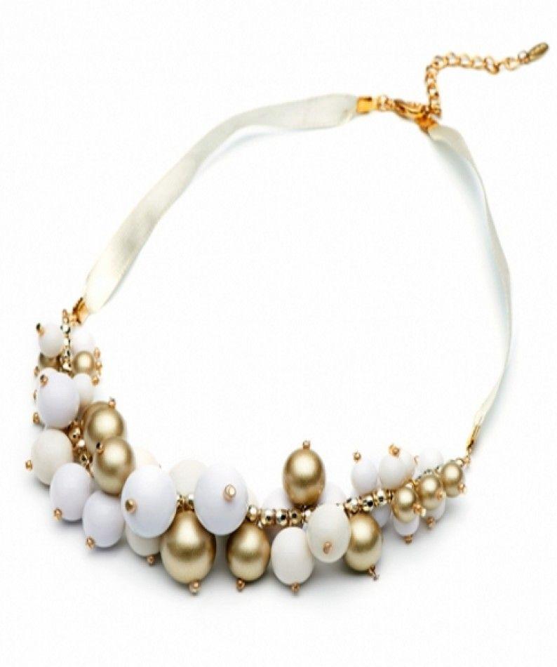Perlen-Halskette-beige-Style