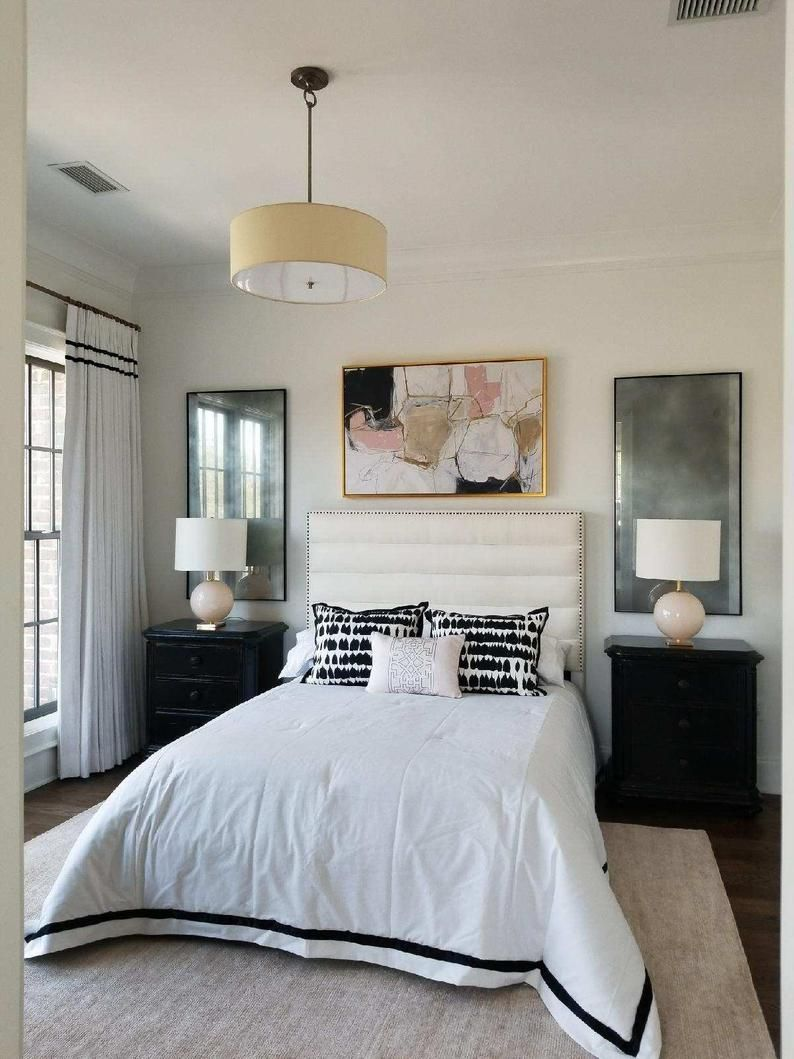 Mirrors Behind Bedside Tables