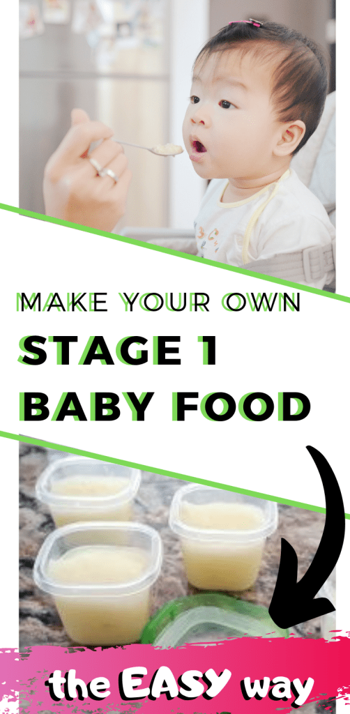 Simple Instructions For How To Make Stage One Baby Foods - planningforkeeps.com