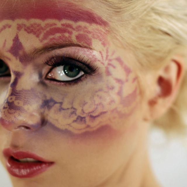 Lace Makeup | Airbrush Makeup | Makeup Inspiration | Pink & Purple ...