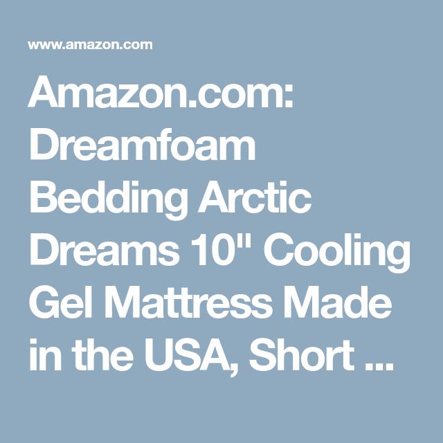 Amazon Com Dreamfoam Bedding Arctic Dreams 10 Cooling Gel