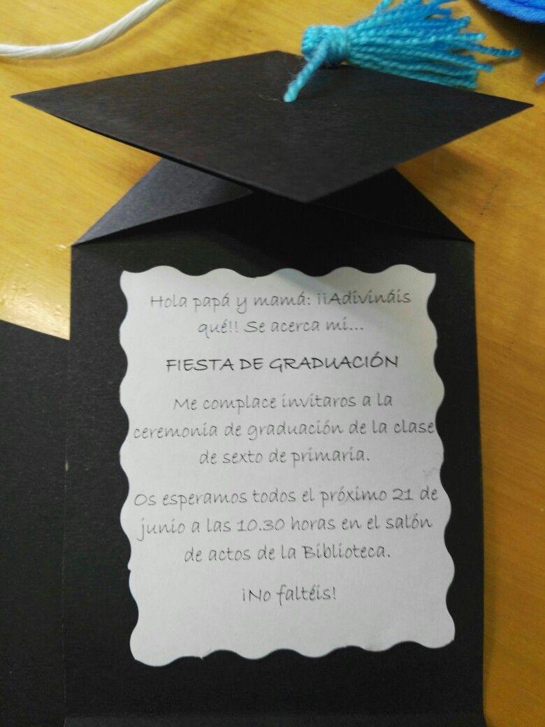 Tarjetas Invitación Graduación Invitaciones Para