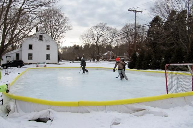 Enjoy Winter By Building Your Own Backyard Ice Skating Rink Backyard Ice Rink Backyard Rink Ice Skating Rink