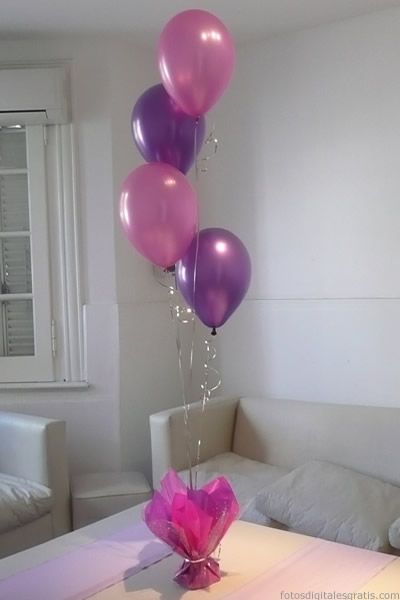centro de mesa con globos - Buscar con Google DECORACION PARA