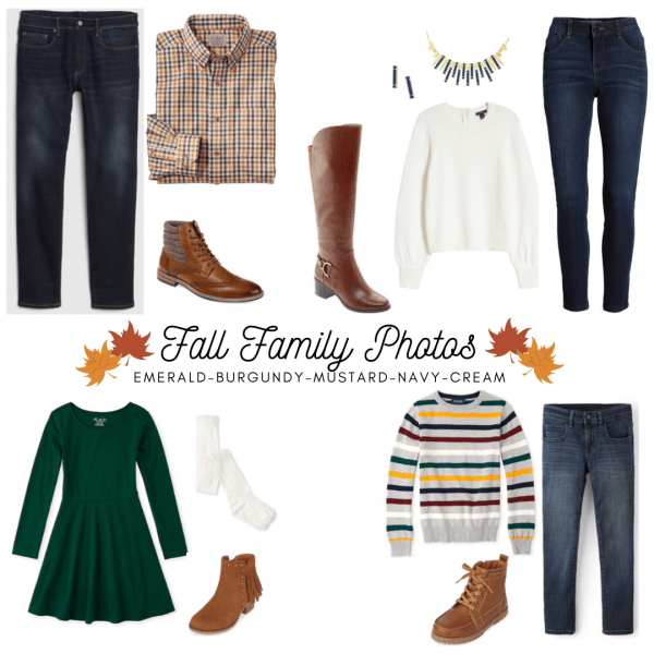 Fall Family Photo Outfit Ideas: 3 Complete Looks + Shopping Links #familyphotooutfits