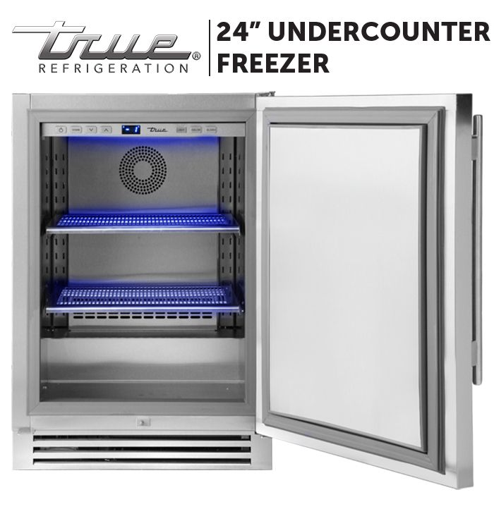 24 Undercounter Freezer Solid Stainless Undercounter Freezer