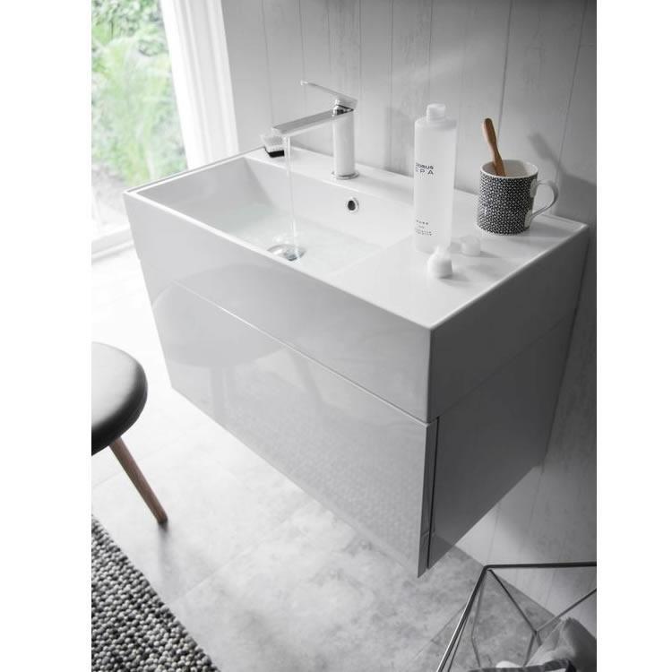 Crosswater Bauhaus Elite 70 White Gloss Vanity Unit and
