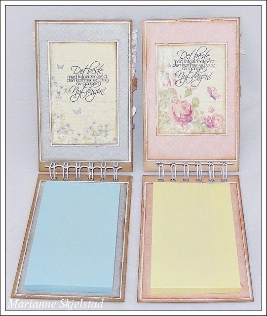 Mariannes papirverden.: To små bøker - Pion Design - TEXT: NORTH STAR STAMPS