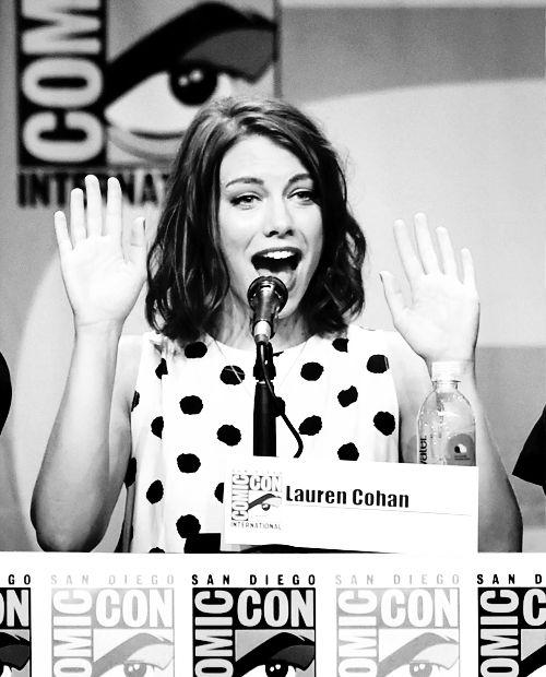 Lauren Cohan during The Walking Dead panel, SDCC
