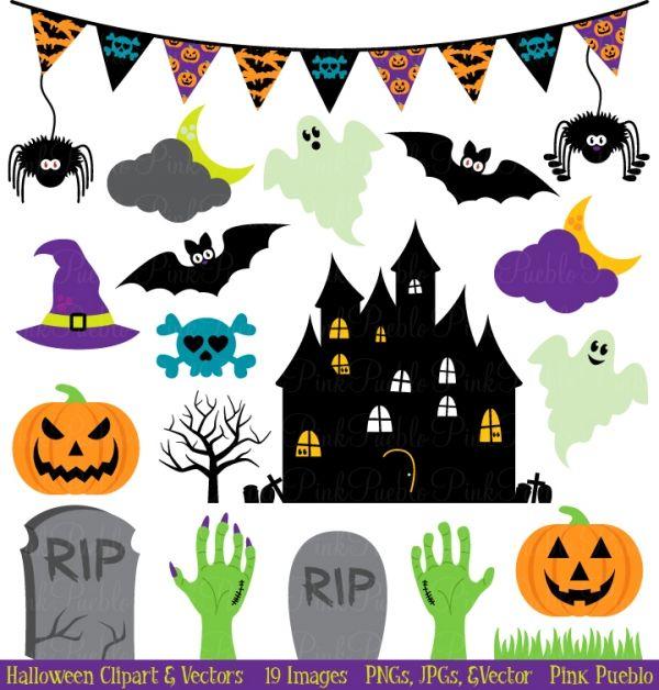 Halloween Clip Art U0026 Vectors   Luvly Marketplace   Premium Design Resources  #halloween #skulls
