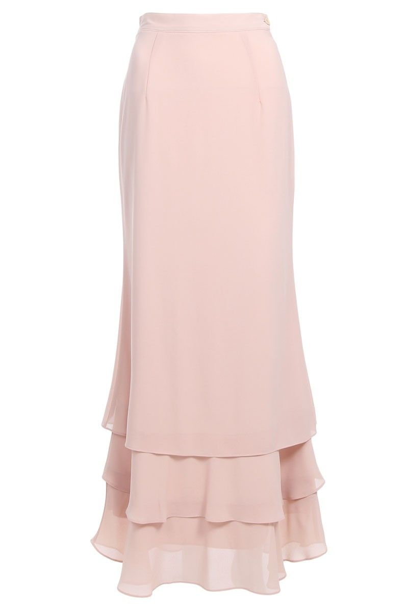 e2166f124d Idayu Ruffle Tier Skirt - Sand … | beautiful dress | Tiere…