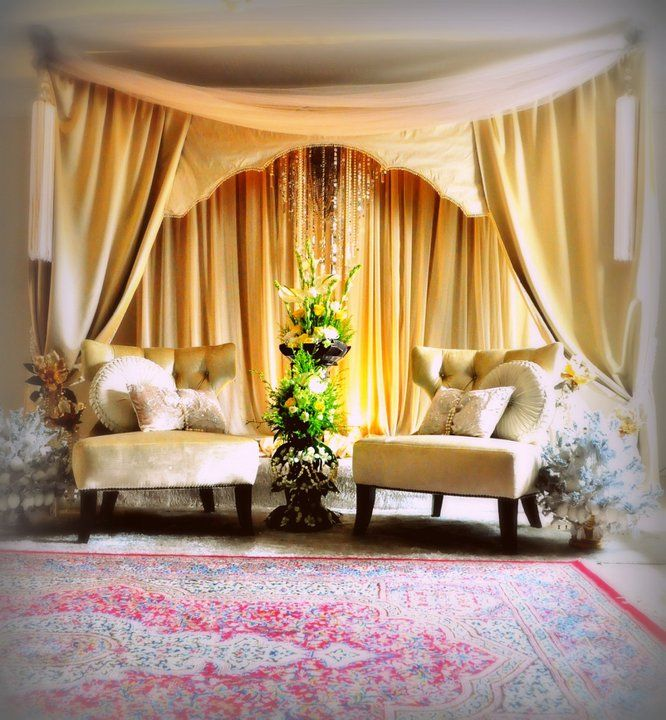 Wedding Nikah Simple Backdrop Decoration Muslim: #pelamin #nikah #dais #taupe