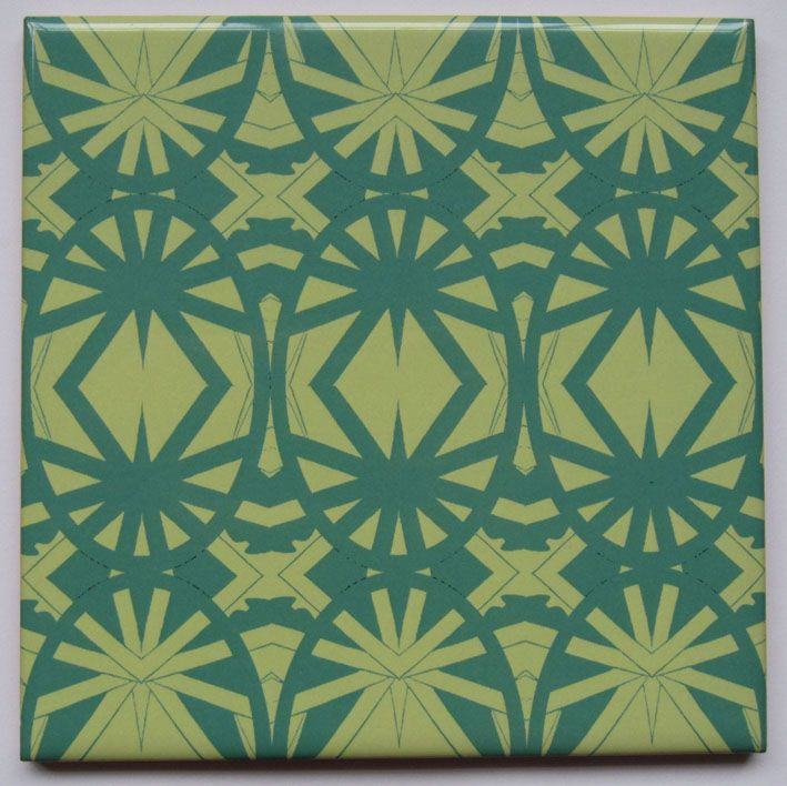 Deco Green Tile from Jacqueline Talbot Designs