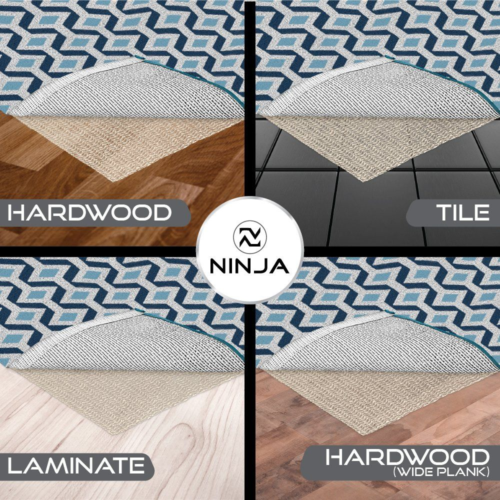 Ninja Brand Gripper Rug Pad Size 8 X 10 For Hardwood Floors And
