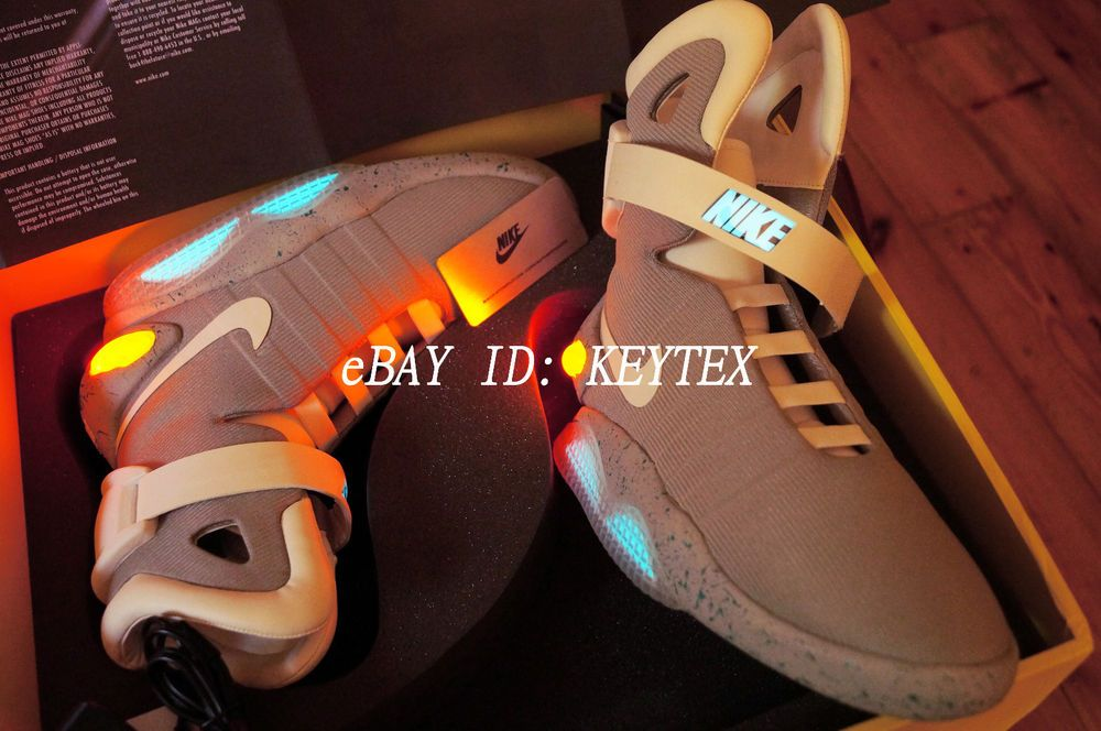 5755180e11e0 NIKE AIR MAG Back To The Future 2 Mcfly LED Yeezy Hyperdunk Hi Top Prop US  9.5  NIKE