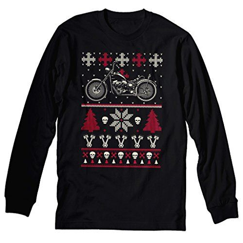Motorcycle ugly Christmas sweaters for bikers. Bikers love to show their holiday spirit. What's a better way to do that than with an ugly Christmas sweater?